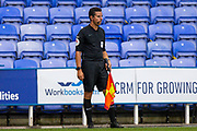 Assistant referee Gregory Read during the EFL Cup match between Reading and Luton Town at the Madejski Stadium, Reading, England on 15 September 2020.