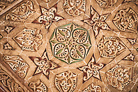 Iran, province de Zanjan, Soltaniyeh, mausolée du sultan mongol Oljeitu, Empire Mongol Ilkhan, classé au patrimoine mondial de l'UNESCO, detail des plafonds // Iran, Zanjan province, Soltaniyeh, Oljeitu mausoleum, the Mongolian sultan of Ilkhanid Mongol era