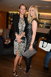 Left to right, SAFFRON ALDRIDGE and JENNY HALPERN-PRINCE at a reception to launch the range of Dr Lancer beauty products held at The Penthouse, Harrods, Knightsbridge, London on 16th September 2013.
