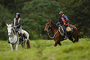 Ecuador, May 1 2010: Horse riders at Hacienda Zuleta...Copyright 2010 Peter Horrell
