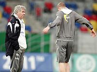 Fotball, 10. februar 2009 ,Trening foran privat-kampen mellom Norge og Tyskland<br /> Egil Olsen , Drillo trener Norge