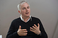 21 MAY 2012, BERLIN/GERMANY:<br /> Christophe F. Maire, Gruender / CEO txtr, Inhaber atlantic ventures, Investor und  Business Angel, waehrend einem Interview, txtr GmbH, Rosenthaler Str., Berlin-Mitte<br /> IMAGE: 20120521-02-042<br /> KEYWORDS: Christophe Maire