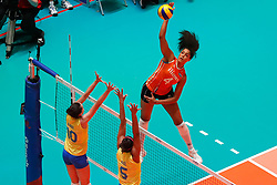 20180531 NED: Volleyball Nations League Netherlands - Brazil, Apeldoorn<br />Celeste Plak (4) of The Netherlands <br />©2018-FotoHoogendoorn.nl