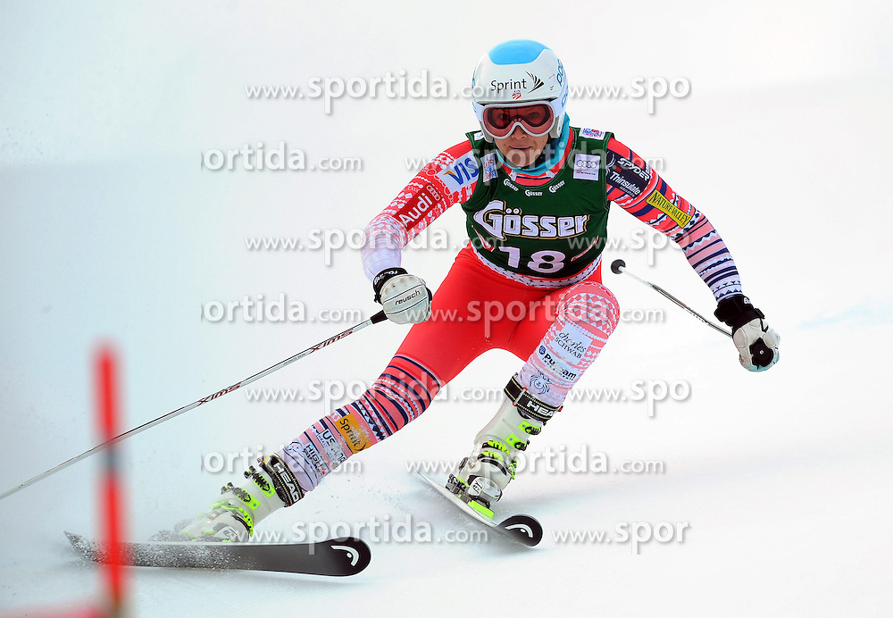 28.12.2013, Hochstein, Lienz, AUT, FIS Weltcup Ski Alpin, Lienz, Riesentorlauf, Damen, 1. Durchgang, im Bild Julia Mancuso (USA) // Julia Mancuso (USA) during the 1st run of ladies giant slalom Lienz FIS Ski Alpine World Cup at Hochstein in Lienz, Austria on 2013/12/28. EXPA Pictures © 2013, PhotoCredit: EXPA/ Erich Spiess
