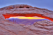 Sunrise on Mesa Arch, Island in the Sky, Canyonlands National Park, Utah USA
