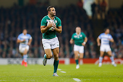 Ireland Winger Dave Kearney in action - Mandatory byline: Rogan Thomson/JMP - 07966 386802 - 18/10/2015 - RUGBY UNION - Millennium Stadium - Cardiff, Wales - Ireland v Argentina - Rugby World Cup 2015 Quarter Finals.