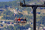 Riding the gondola at Whitefish Mountain Resort in Montana model released