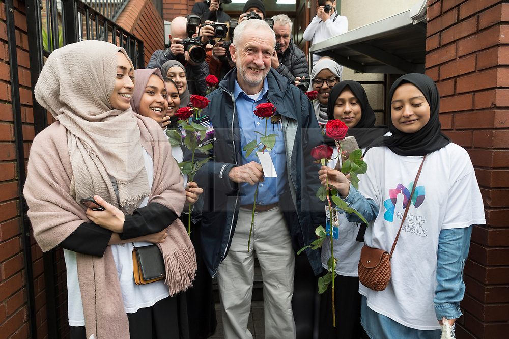© Licensed to London News Pictures. 03/03/2019. London, UK. British Labour party leader Jeremy Corbyn MP visits Finsbury Park Mosque for Visit My Mosque Day. Photo credit: Ray Tang/LNP