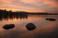 Puddingstone Lake at Sunset, Frank G. Bonelli County Park, San Dimas, California