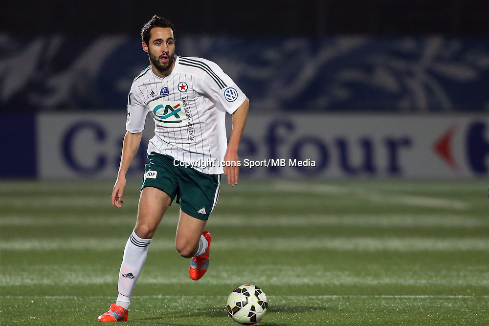 Florian MAKHEDJOUF  - 23.01.2015 - Red Star / Marseille Consolat - Coupe de France<br /> Photo : Sebastien Muylaert / Icon Sport