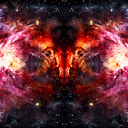 """Space Ram"" was created using an image of the Orion Nebula. Original found here: http://hubblesite.org/newscenter/archive/releases/2006/01/image/a/"