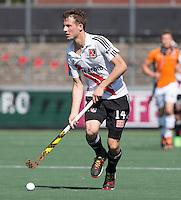 AMSTELVEEN -  HOCKEY -  Nicky Leijs (A'dam) .   Beslissende finalewedstrijd om het Nederlands kampioenschap hockey tussen de mannen van Amsterdam en Oranje Zwart (2-3). COPYRIGHT KOEN SUYK