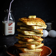 Square Pancakes | Oklahoma Food Photographer
