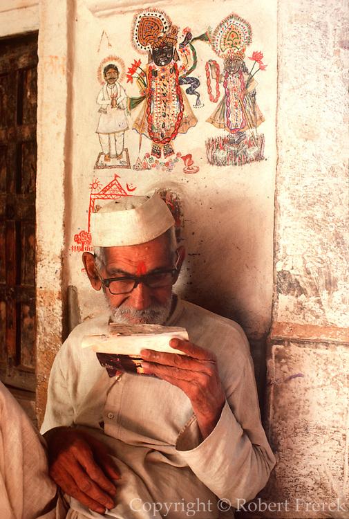 INDIA, RAJASTHAN Krishna wall paintings at a home in Jaisalmer