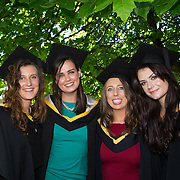 "25.08.2016          <br />  Faculty of Business, Kemmy Business School graduations at the University of Limerick today. <br /> <br /> Attending the conferring were Bachelor of Business Studies graduates, Kate O'Brien, Kildimo Co. Limerick, Karen Roche, Loughrea Co. Galway, Niamh Keeshan, Borisokane Co. Tipperary and Lisa Fitzgerald, Ballysimon Road, Limerick. Picture: Alan Place.<br /> <br /> <br /> As the University of Limerick commences four days of conferring ceremonies which will see 2568 students graduate, including 50 PhD graduates, UL President, Professor Don Barry highlighted the continued demand for UL graduates by employers; ""Traditionally UL's Graduate Employment figures trend well above the national average. Despite the challenging environment, UL's graduate employment rate for 2015 primary degree-holders is now 14% higher than the HEA's most recently-available national average figure which is 58% for 2014"". The survey of UL's 2015 graduates showed that 92% are either employed or pursuing further study."" Picture: Alan Place"