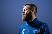 Derby County (36) Joe Ledley  during the warm up at  EFL Sky Bet Championship match between Brentford and Derby County at Griffin Park, London, England on 26 September 2017. Photo by Sebastian Frej.