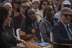 November 12, 2016 - Marathonas, Greece - Jemima Sumgong Kenyan gold Medalist at the 2016 Rio Olympics during the lighting of Marathon Flame in Marathonas. Ceremony in the Greek city of Marathonas as part of the 35 Athens Marathon the Authentic. (Credit Image: © George Panagakis/Pacific Press via ZUMA Wire)