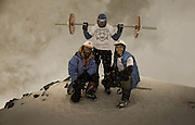Russian bodybuilder travelled to top of Mount Elbrus with a Barbell<br /> <br /> A Russian bodybuilder has travelled to the top of the highest mountain in Europe and Russia - Mount Elbrus. He didn't travel alone. He took his favorite 75 kilo (or around 150 lbs) barbell together with him on his shoulders. It took him eight days to reach the height of 5,642 meters (18,510 feet)! He got severely burned and was tired but still went forward and on September 6th he reached his goal. A few photos are inside.<br /> <br /> He left his barbell on top of the mountain as a live monument of his achievement.<br /> ©Exclusivepix Media