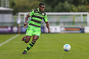 Forest Green Rovers Dale Bennett (6) runs forward during the Vanarama National League match between Forest Green Rovers and York City at the New Lawn, Forest Green, United Kingdom on 20 August 2016. Photo by Shane Healey.