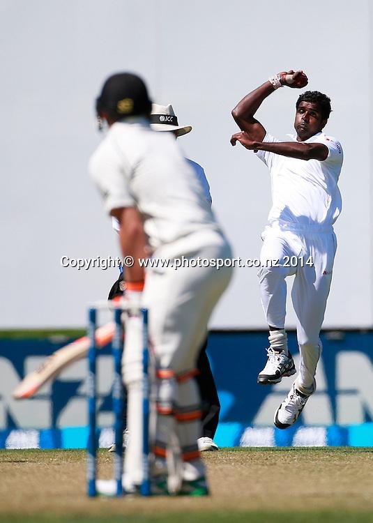 Shaminda Eranga of Sri Lanka bowling on Day 1 of the boxing Day Cricket Test Match  the Black Caps v Sri Lanka at Hagley Oval, Christchurch. 26 December 2014 Photo: Joseph Johnson / www.photosport.co.nz