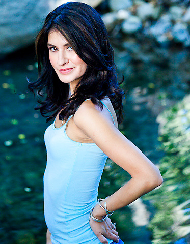 Monika Nava-Farmer model outdoor headshots and three quarter shots by Doug ellis