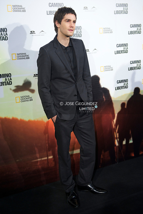 US actors Jim Sturgess poses during the premiere of 'The way back' at Capitol Cinema in Madrid