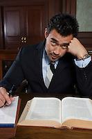 Man working in court, portrait