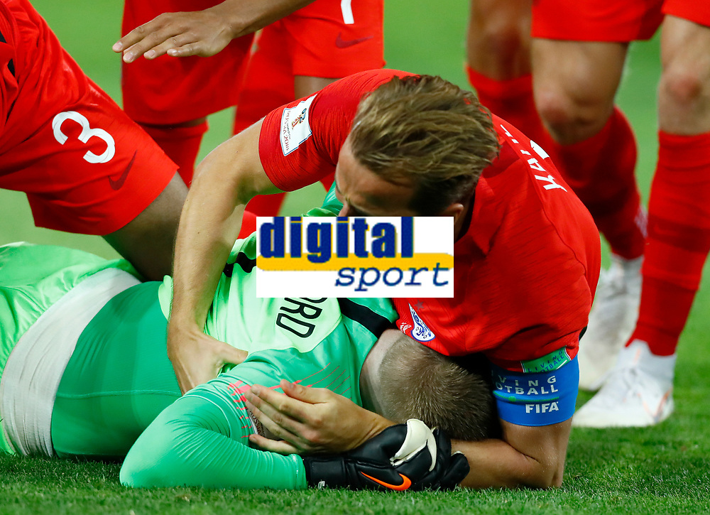 Harry Kane (England) and Jordan Pickford (England) celebrate<br /> Moscow 03-07-2018 Football FIFA World Cup Russia 2018 <br /> Colombia - England / Colombia - Inghilterra<br /> Foto Matteo Ciambelli/Insidefoto