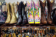 Cowboy boots for sale in Austin Texas in June 2010.