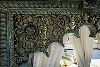 UDAIPUR, INDIA - CIRCA NOVEMBER 2016: Detail of intricate carvings of Jagmandir a luxury hotel in Lake Pichola, Udaipur