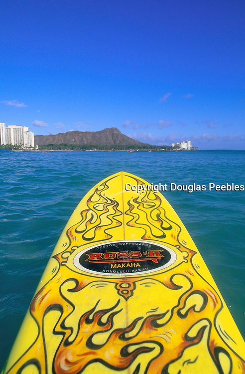 Surfing, Waikiki, Oahu, Hawaii, USA<br />