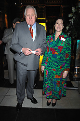 LORD HATTERSLEY and MAGGIE PEARLSTINE at the Orion Publishing Groups Authors party held at the V&A museum, Cromwell Road, London on 15th February 2007.<br />