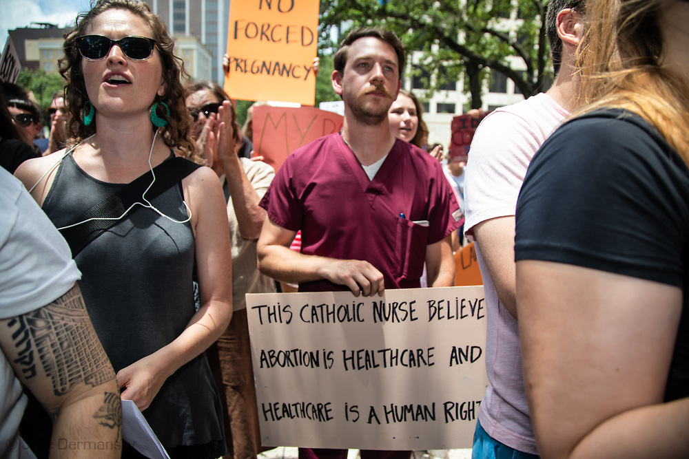 Pro Choice rally in New Orleans on May, 22, 2019. Pro Choice rally in New Orleans on May 22, 2019.