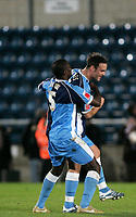 Photo: Marc Atkins.<br />Wycombe Wanderers v Oxford United. The FA Cup. 11/11/2006. Stephan Oakes, & Will Antwi of Wycombe celebrate their goals and the teams win over Oxford United.