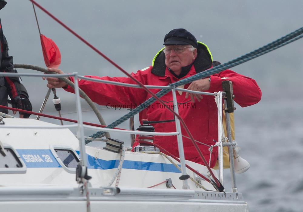 Silvers Marine Scottish Series 2017<br /> Tarbert Loch Fyne - Sailing<br /> <br /> GBR8272, Enigma, Howard Morrison, CCC, Sigma 38.<br /> <br /> Credit: Marc Turner / CCC