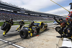 April 8, 2018 - Ft. Worth, Texas, United States of America - April 08, 2018 - Ft. Worth, Texas, USA: Trevor Bayne (6) brings his car down pit road for service during the O'Reilly Auto Parts 500 at Texas Motor Speedway in Ft. Worth, Texas. (Credit Image: © Chris Owens Asp Inc/ASP via ZUMA Wire)
