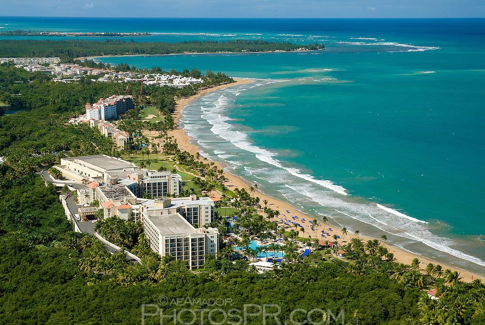 Aerial view of Wyndham Rio Mar resort