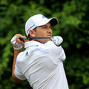 Sergio Garcia, Spain, in action during the final round of the Travelers Championship at the TPC River Highlands, Cromwell, Connecticut, USA. 22nd June 2014. Photo Tim Clayton