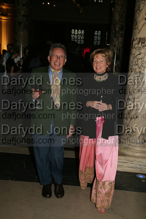 KASMIN AND FRANCESCA GALLOWAY, V and A celebrates 150th anniversary. V and A. London. 26 June 2007.  -DO NOT ARCHIVE-© Copyright Photograph by Dafydd Jones. 248 Clapham Rd. London SW9 0PZ. Tel 0207 820 0771. www.dafjones.com.