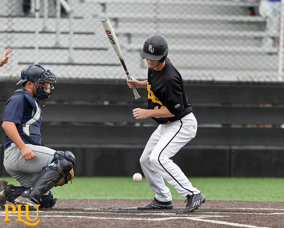PLU baseball against George Fox winning 16-4 in the NWC Tournament 1st round on Friday, April 24, 2015. (Photo: John Froschauer/PLU)