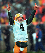 (1999)-Green Bay's Brett Favre celebrates a touchdown pass.