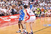 DESCRIZIONE : Reggio Emilia Lega A 2014-15 Grissin Bon Reggio Emilia - Banco di Sardegna Sassari playoff finale gara 7 <br /> GIOCATORE :Lawal Shane<br /> CATEGORIA : Tecnica<br /> SQUADRA : Banco di Sardegna Sassari<br /> EVENTO : LegaBasket Serie A Beko 2014/2015<br /> GARA : Grissin Bon Reggio Emilia - Banco di Sardegna Sassari playoff finale gara 7<br /> DATA : 26/06/2015 <br /> SPORT : Pallacanestro <br /> AUTORE : Agenzia Ciamillo-Castoria / Richard Morgano<br /> Galleria : Lega Basket A 2014-2015 Fotonotizia : Reggio Emilia Lega A 2014-15 Grissin Bon Reggio Emilia - Banco di Sardegna Sassari playoff finale gara7<br /> Predefinita :