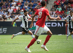 July 28, 2018 - Harrison, New Jersey, United States - Juventus player dribbles the ball  during the International Champions Cup at Red Bull Arena in Harrison, NJ.  Juventes defeats SL Benfica 1-1  (Credit Image: © Mark Smith via ZUMA Wire)