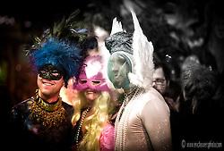 2009 Mardi Gras celebrations in the Crossroads District, Kansas City, Missouri at 18th and Wyandotte.