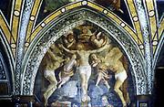 Crucifixion.  Gaudenzio Ferrari (1470-1546). Church of St Mary of the Graces, Milan.