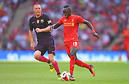 Sadio Mane of Liverpool during the International Champions Cup match against FC Barcelona at Wembley Stadium, London<br />Picture by Andrew Timms/Focus Images Ltd +44 7917 236526<br />06/08/2016
