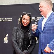 NLD/Utrecht/20180928 - Onthulling Gouden Tegels NFF, Nora El Koussour en Rene Mioch