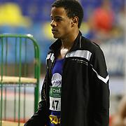 Raphael Kapenda sur le 200m juniors lors du Championnat de Belgique indoor Juniors et Espoirs qui s'est déroulé à Gand (Topsporthal) le 04/03/2017.