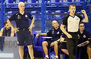 DESCRIZIONE : Porto San Giorgio PreCampionato Lega A 2015-16 Vanoli Cremona Banvit Basketbol GIOCATORE : Cesare Pancotto<br /> CATEGORIA : Coach Direttive Mani FairPlay Arbitro<br /> SQUADRA : Vanoli Cremona<br /> EVENTO :  PreCampionato Lega A 2015-16<br /> GARA : Vanoli Cremona Banvit Basketbol <br /> DATA : 04/09/2015<br /> SPORT : Pallacanestro <br /> AUTORE : Agenzia Ciamillo-Castoria/A.Giberti<br /> Galleria :  Campionato Lega A 2015-16  <br /> Fotonotizia :  Vanoli Cremona Banvit Basketbol <br /> Predefinita :