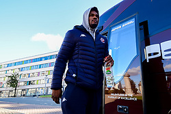 Marcus Delpeche of Bristol Flyers arrives at Plymouth Pavilions prior to kick off - Photo mandatory by-line: Ryan Hiscott/JMP - 28/10/2018 - BASKETBALL - Plymouth Pavilions - Plymouth, England - Plymouth Raiders v Bristol Flyers - British Basketball Cup